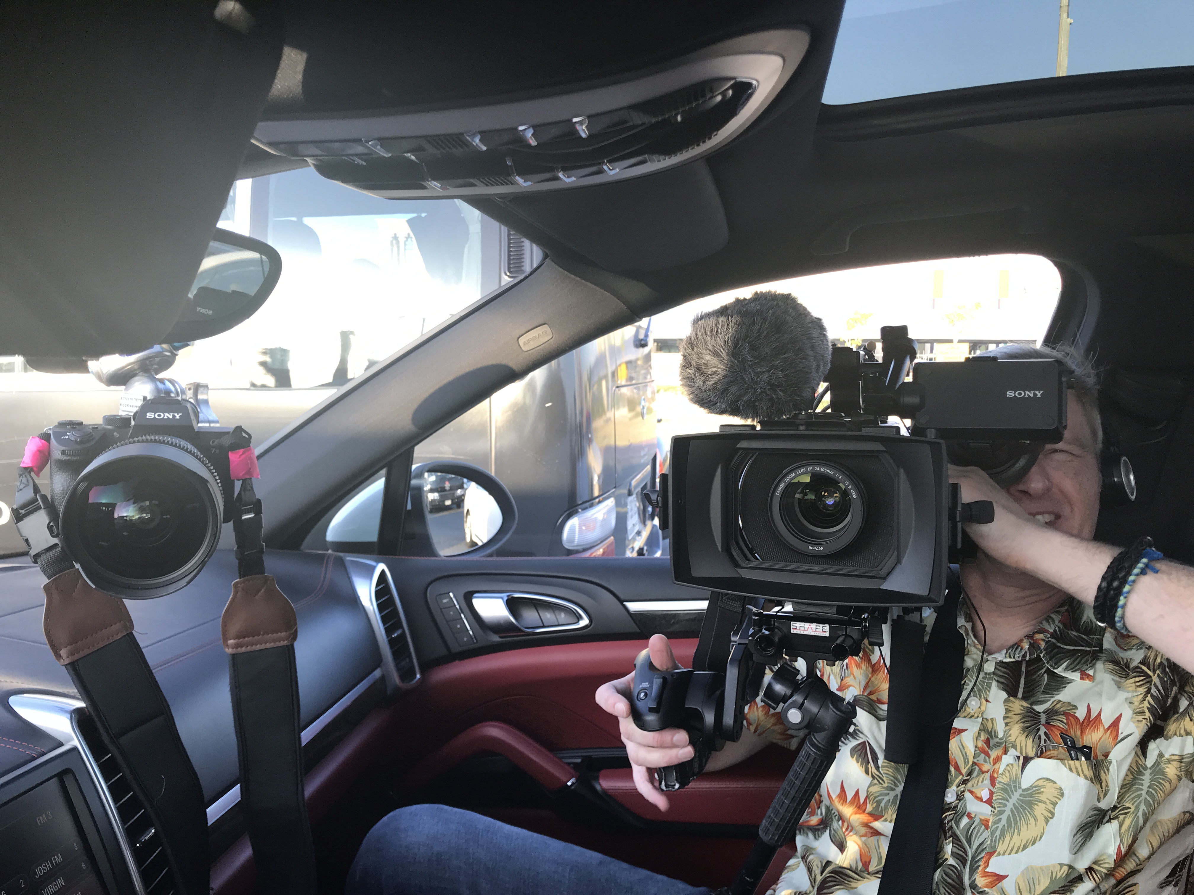 BBC Crew filming Yasmin Hussain Driving around Dubai