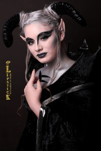 Creative Dark Aries Makeup by one of the students